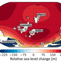 Ordovician post-glacial deglacial relative sea-level rise (Pohl and Austermann, 2018)